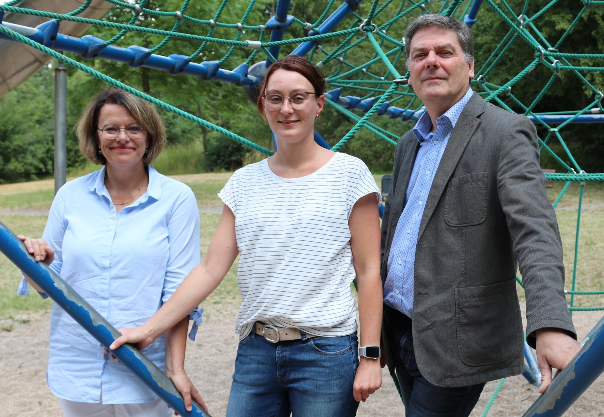Das KoKi-Team für den Landkreis und die Stadt Hof: Gabriele Roth, Franziska Müller und Thomas Funke.