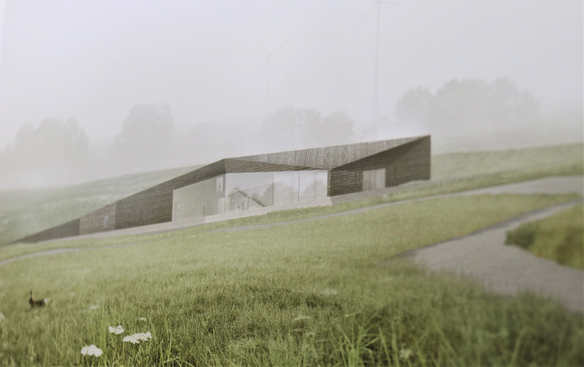 Visualisierung des Erweiterungsbaus des Deutsch-Deutschen Museums in Mödlareuth