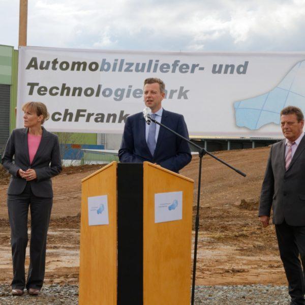 Landkreis Hof; Industrieflächen; Neuansiedelung; OB Eva Döhla, Landrat Dr. Bär., Bürgermeister Stefan Müller; Investitionen