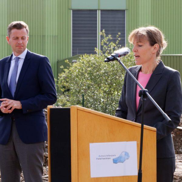 Landkreis Hof; Industrieflächen; Neuansiedelung; OB Eva Döhla, Landrat Dr. Bär,; Investitionen